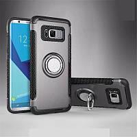 Чехол для Samsung Galaxy S8, бампер с подставкой, магнитной пластиной, серый
