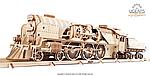 Локомотив c тендером V-Экспресс | UGEARS | Механический 3D конструктор из дерева, фото 2