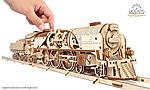 Локомотив c тендером V-Экспресс | UGEARS | Механический 3D конструктор из дерева, фото 6