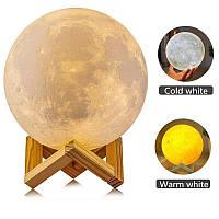 Настольний светильник Magic 3D Moon Light, ночник луна, фото 1
