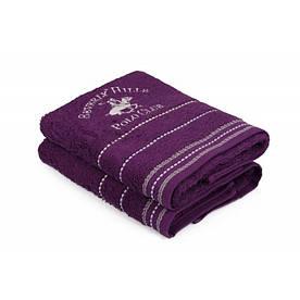 Набор полотенец Beverly Hills Polo Club - 355BHP1255 Fitili Purple 50*90