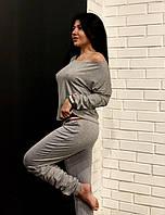 Женский удобный спортивный костюм, костюм для дома, домашняя одежда