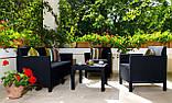 Набор садовой мебели Orlando Set With Small Table из искусственного ротанга, фото 8