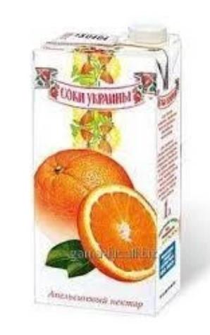 """Соки ТМ """"Соки Украины"""" апельсиновый 1л"""