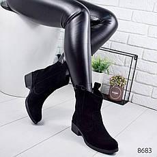 """Ботинки женские демисезонные """"Cozack"""" черного цвета из НАТУРАЛЬНОЙ ЗАМШИ. Ботильоны женские. Черевики осінні, фото 2"""