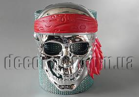 Маска серебряный пиратский череп