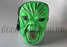 Маска монстра зеленая из фоамирана