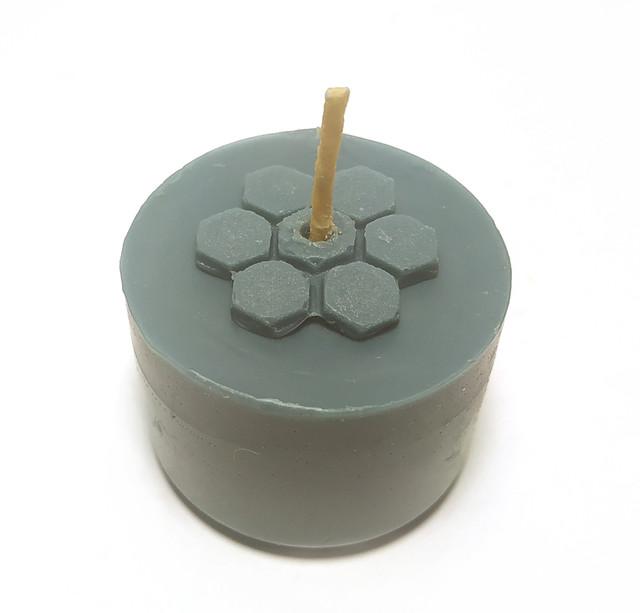 Сині чайні свічки з бджолиного воску Tea Lights Candles без гільзи