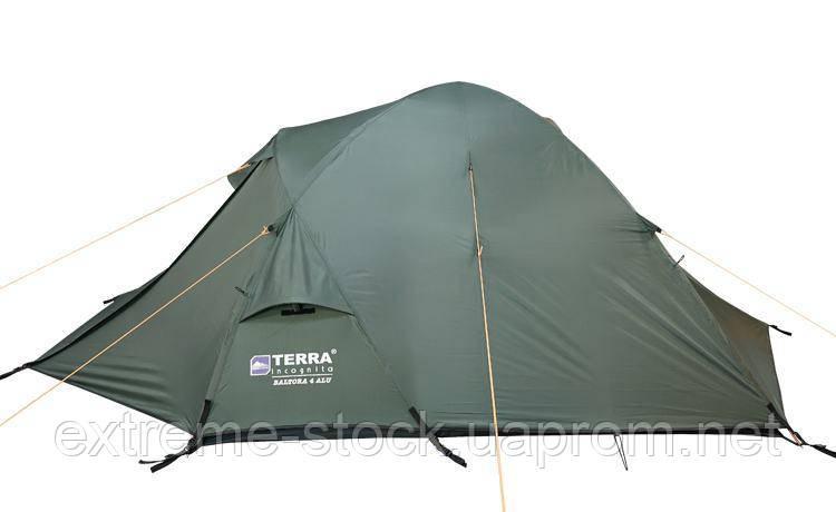 Палатка Terra Incognita Baltora 4 Alu темно-зелений