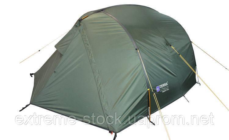 Палатка Terra Incognita Bravo 2 темно-зелений