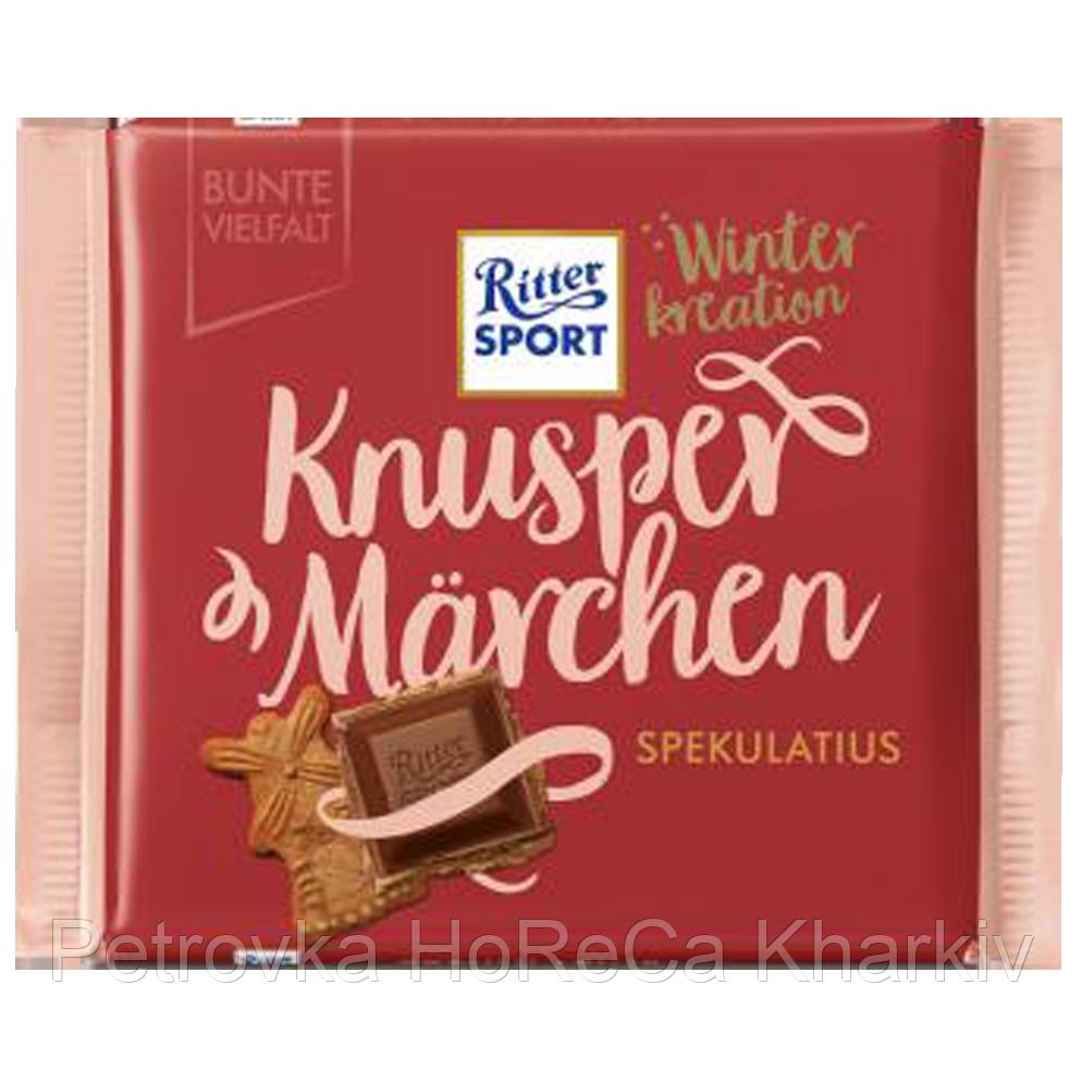 """Шоколад молочный с какао кремом и имбирным печеньем """"Ritter Sport """" 100г"""