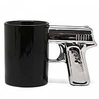Чашка Пистолет с серебряной ручкой