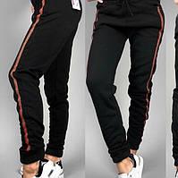 Теплые штаны брюки на флисе с лампасами, фото 1