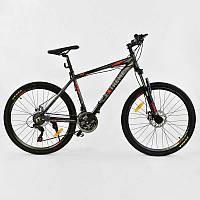 """Велосипед Спортивный CORSO EXTREME 26""""дюймов JYT 005 - 2877 BLACK (1) рама алюминиевая 17``, 21 скорость, собран на 75%"""