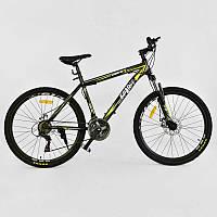 """Велосипед Спортивный CORSO SPIRIT 26""""дюймов JYT 001 - 2261 BLACK-YELLOW (1) рама металлическая 17``, 21 скорость, собран на 75%"""