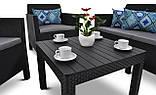 Набор садовой мебели Orlando Set With Small Table Graphite ( графит ) из искусственного ротанга ( Allibert ), фото 6