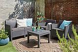 Набор садовой мебели Orlando Set With Small Table Graphite ( графит ) из искусственного ротанга ( Allibert ), фото 3