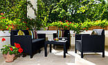 Набор садовой мебели Orlando Set With Small Table Graphite ( графит ) из искусственного ротанга ( Allibert ), фото 8