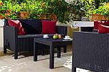 Набор садовой мебели Orlando Set With Small Table Graphite ( графит ) из искусственного ротанга ( Allibert ), фото 10