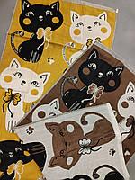 Полотенце лицевое с котами № 0496