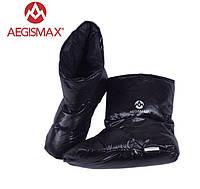 Пуховые носки (зимние), обувь из пуха Aegismax Размер XL 26-29см. черный