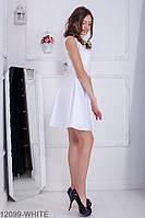 Симпатичне легке лялькове плаття без рукавів з V-подібним вирізом Syrian