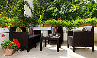 Набор садовой мебели Orlando Set With Small Table Brown ( коричневый ) из искусственного ротанга, фото 1