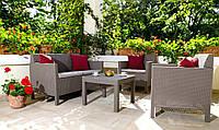 Набор садовой мебели Orlando Set With Small Table Cappuccino ( капучино ) из искусственного ротанга, фото 1