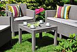 Набор садовой мебели Orlando Set With Small Table Cappuccino ( капучино ) из искусственного ротанга (Allibert), фото 3