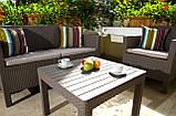 Набор садовой мебели Orlando Set With Small Table Cappuccino ( капучино ) из искусственного ротанга (Allibert), фото 7