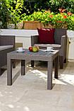 Набор садовой мебели Orlando Set With Small Table Cappuccino ( капучино ) из искусственного ротанга (Allibert), фото 9