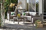 Набор садовой мебели Orlando Set With Small Table Cappuccino ( капучино ) из искусственного ротанга (Allibert), фото 10