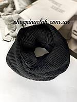 Женский шарф (хомут снуд бафф) черный