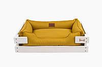 Лежак c каркасом для собак Harley and Cho Dreamer White + Mustard 3010033, 50*40 см