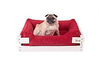 Лежак c каркасом для собак Harley and Cho Dreamer White + Red 3100216, 50*40 см
