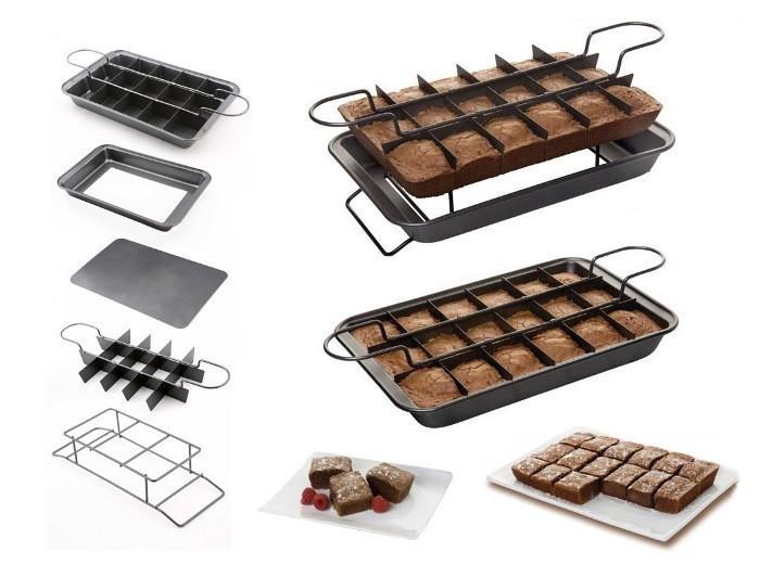 Антипригарная форма для выпекания пирожных Perfect Brownie, для порционной выпечки
