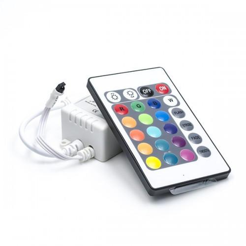RGB контроллер и пульт 24 кнопки для управления светодиодными Led лентами