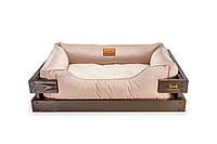 Лежак c каркасом для собак Harley and Cho Dreamer Brown + Pudra Velur 3101680, 90*60 см