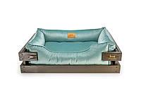 Лежак c каркасом для собак Harley and Cho Dreamer Brown + Tiffany Velur 3020215, 60*45 см