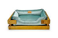 Лежак c каркасом для собак Harley and Cho Dreamer Nature + Tiffany Velur 3101683, 90*60 см