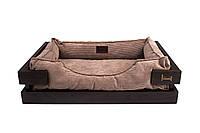 Лежак c каркасом для собак Harley and Cho Dreamer Brown + Cacao Velvet 3010502, 70*50 см