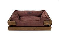 Лежак c каркасом для собак Harley and Cho Dreamer Nature + Brown Velvet 3100332, 50*40 см