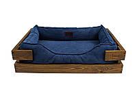 Лежак c каркасом для собак Harley and Cho Dreamer Nature + Denim Velvet 3100354, 90*60 см