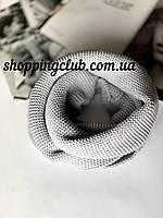 Женский  шарф (хомут снуд бафф) серый