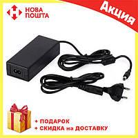 Адаптер 12V 10A пластик + кабель   универсальный блок питания для ноутбука, фото 1