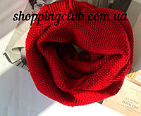 Женский  шарф (хомут снуд бафф) красный