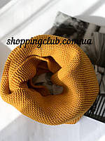 Женский  шарф (хомут снуд бафф) желтый