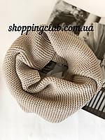 Женский  шарф (хомут снуд бафф) темно-бежевый