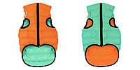 Куртка для собак Collar AiryVest Lumi светящаяся, оранжево-салатовая, 2112 размер XS 22