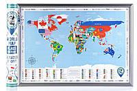 Скретч карта мира flags edition на английском языке